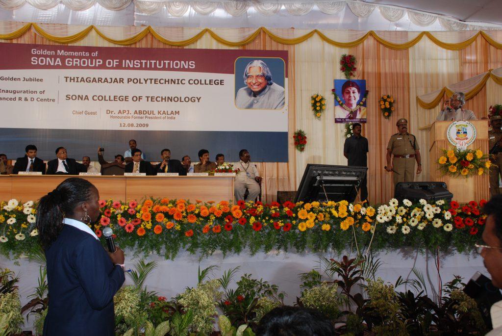 Dr Kalam at Sona